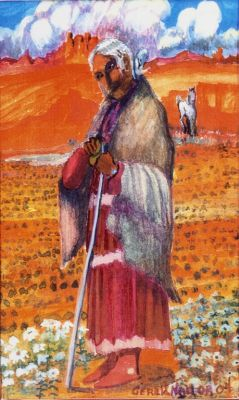 Navajo Grandmother, by Gerald Nailor
